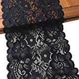 LaceRealm 7 Inch Wide Floral Stretchy Lace Elastic Trim Fabric for Garment & DIY Craft Supply- 5 Yard (7020 Black) diy hair color Jan, 2021