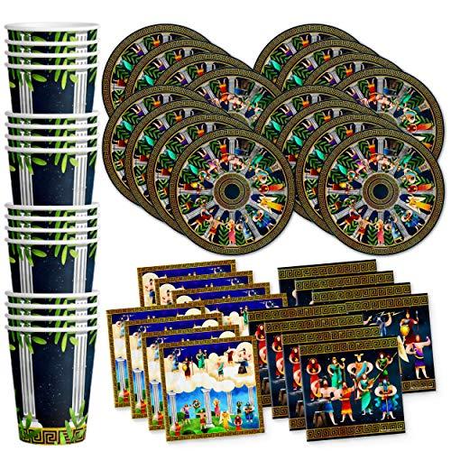 Greek Mythology Birthday Party Supplies Set Plates Napkins Cups Tableware Kit for 16
