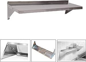 Resistente a la corrosi/ón Nisorpa 120 x 30 cm Estanter/ía de Pared de Acero Inoxidable para Cocina