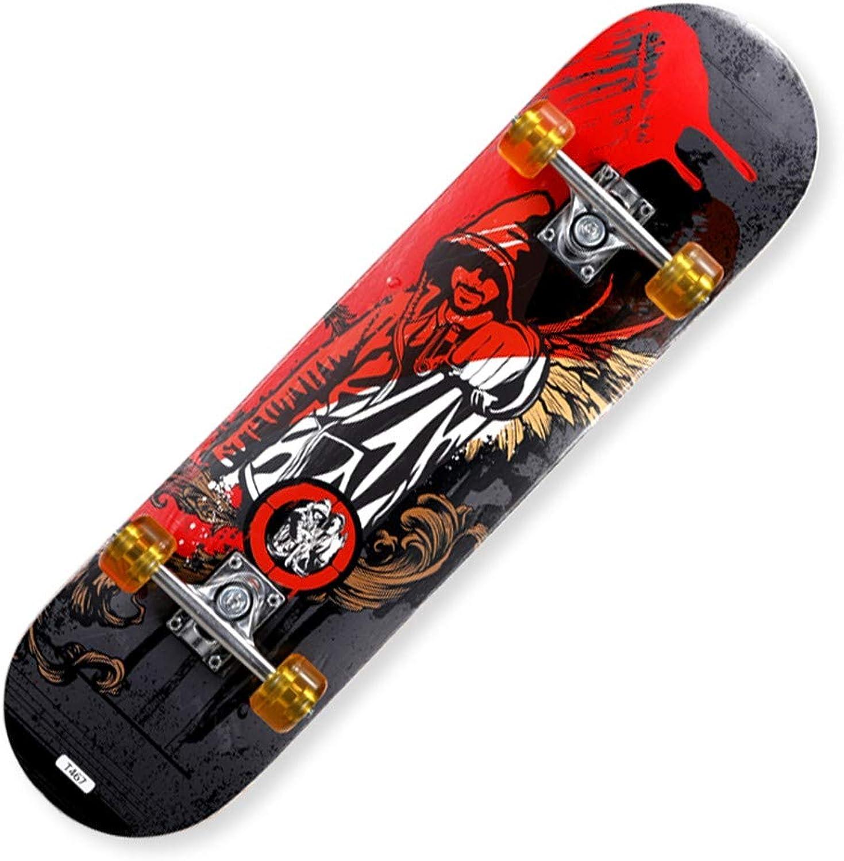 FTYUC Skateboards Longboard Double RockerSkateboarding männliche und weibliche Erwachsene Street Street Street Street Doppel Rocker Hip Hop B07M8T8Q43  Im Gegensatz zu dem gleichen Absatz 40159c