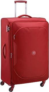 ديلسي حقيبة سفر بعجلات للجنسين، احمر