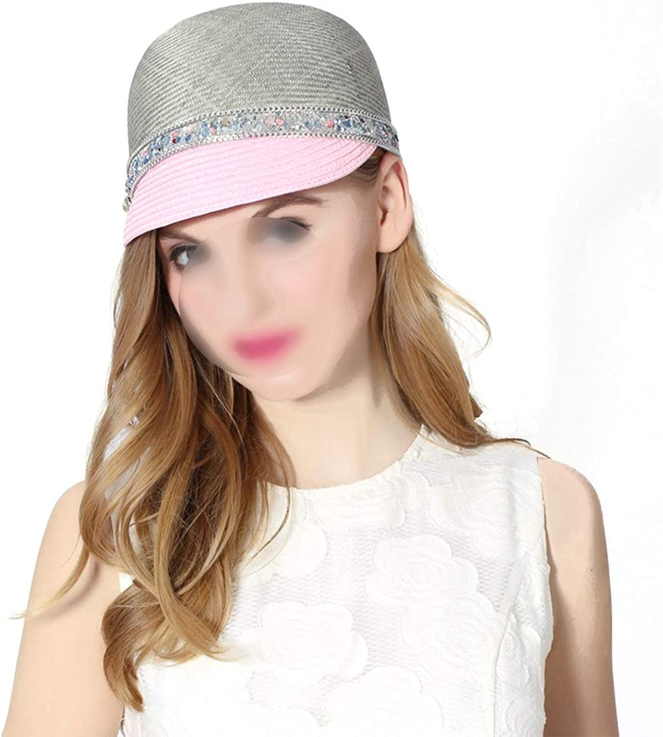 Outdoor Pink and Bright Baseball Cap Hat Spring and Summer Style Ladies' Cap. (color   Grey)