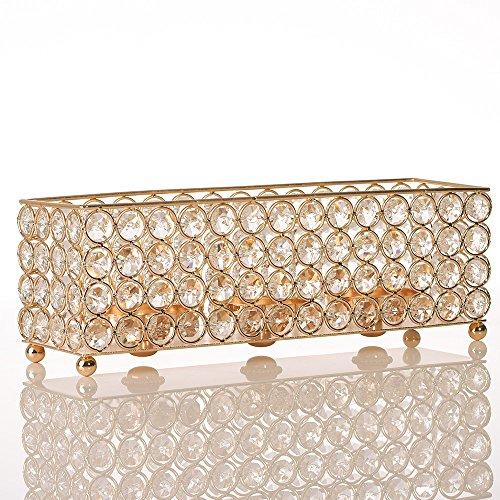 VINCIGANT Kandelaar gouden kristallen kandelaar retro kandelaar moderne kaarsenhouder geschikt voor bruiloft tafel decoratie en moederdaggeschenken