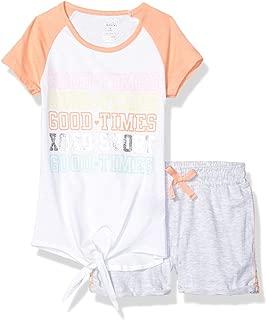 XOXO 女童活力上衣和短裤套装