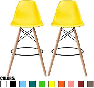 2xhome - Set of Two (2) - Yellow - 25