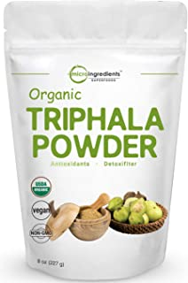 USDA Organic Triphala Powder, 8 Ounce, Strongly Supports Diet Control and Fat Burn, No GMOs and Vegan Friendly
