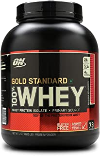 Optimum Nutrition Whey Gold Standard, Delicious Strawberry, 10 Lbs, 146 Servings