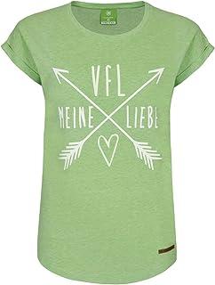 VfL Wolfsburg T-Shirt Frauen VfL Meine Liebe grün mit hochwertigem Lederbadge Größe XS - 2XL XS