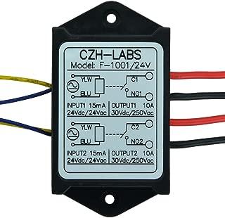 Electronics-Salon 1PCS Dual SPST-NO 10Amp Power Relay Module, AC/DC 24V Control Voltage.