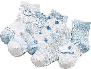 Black Temptation, 5 pares unisex del bebé Calcetines, 1-3 años de edad del bebé del algodón Calcetines #01