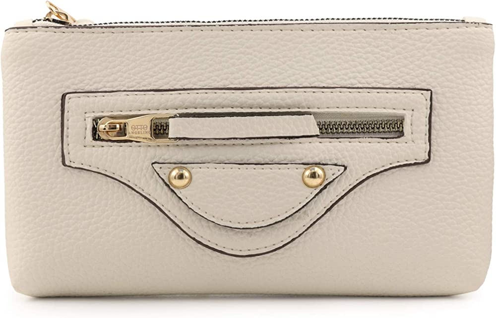 Otto angelino, porta carte di credito, portafoglio , pochette porta smartphone, per donna, in pelle OTTO322