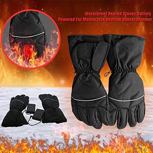 Beheizte Handschuhe wasserdicht batteriebetrieben für Motorrad Jagd Winter Warmer