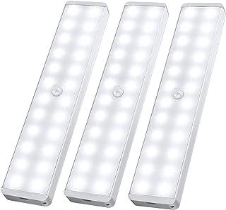LED Closet Light, 24-LED Newest Version Rechargeable Motion Sensor Closet Light Under Cabinet Wireless Stick-Anywhere Nigh...