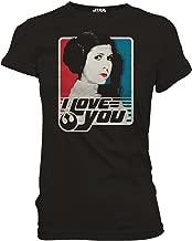 Princess Leia I Love You Han Solo Classic Funny Humor Pun Women's Juniors Slim Fit Adult Graphic Tee T-Shirt