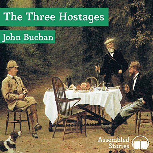 The Three Hostages audiobook cover art