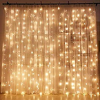 Twinkle Star 300 LED Window Curtain String Light Wedding Party Home Garden Bedroom Outdoor Indoor Wall Decorations, W...
