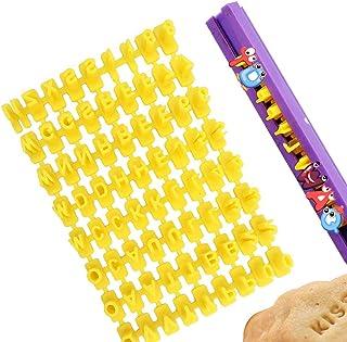 Emporte piece Alphabet et Chiffre, XCOZU Emporte piece Lettre Tampon Patisserie, Lettre pate a Sucre/Lettre Cookies Stamp ...