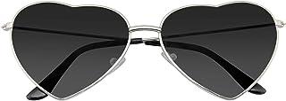 Emblem Eyewear - Lunettes De Soleil Cadre Coeur Forme Lunettes De Soleil Mignon Belle Femmes En Métal
