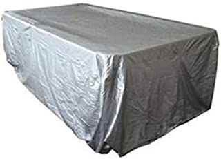 Pool Table Cover Full Protection,Full Size Snooker Table Cover With Drawstring For 7/8/9 FT Pool Table,Black/Silver