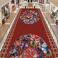 CnCnCn エリアラグカーペット廊下カーペットベッドルームリビングルームキッチンノンスリップヨーロピアンスタイルの0.5cmの太いです (Color : A, Size : 100x250cm)