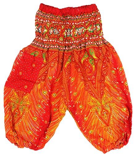 Sarouel 2/3 años - Pantalón étnico para niño, color rojo
