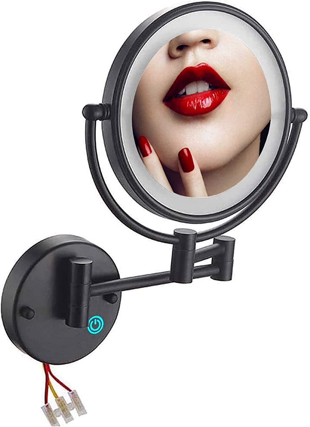 Qlhnyq Ranking TOP15 Lighted Makeup Mirror Wall Magnification Mount Popular overseas with 10X