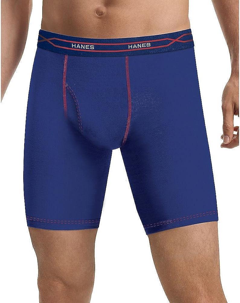 Hanes Men's 3-Pack X-Temp Performance Cool Long Leg Boxer Brief