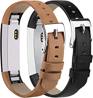 Tobfit Leather Bands Compatible with Fitbit Alta Bands/Alta HR/Ace Replacement Accessories Bands for Women Men