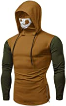 Mens Hoodie,Funny Mask Solid Sweatshirts Blouse Tops Skull Hooded Pullover
