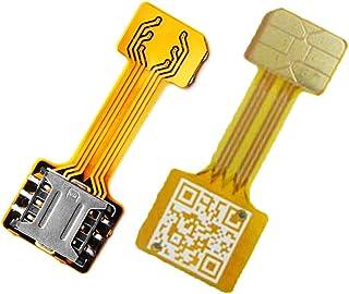 TECNOIOT Hybrid Dual SIM Card Adapter Micro SD Nano SIM Extension Adapter for Android | Dual SIM Adaptador Nano a Nano SIM...