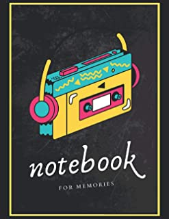 Notebook For Memories: A 120 Pages Premium College Lined Notebook for Work, School or Writing - Great Journal for women, m...