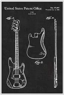 Fender Bass Blueprint Patent Print Poster
