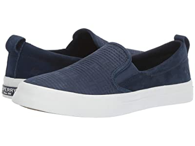 Sperry Crest Slip-On Woven Emboss (Navy) Women