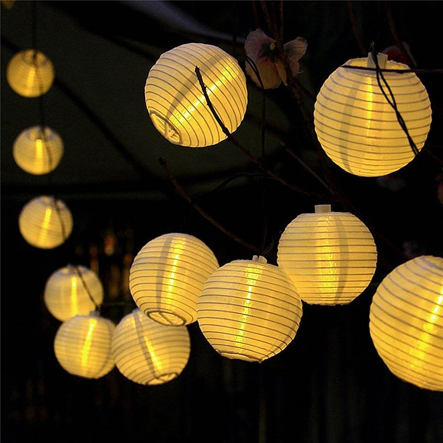 ながらアスレチックめる提灯ライト ATPWONZ ちょうちん 6.35M 30球 提灯 LEDストリングライト 電池式 防水 イベント 看板 お祭り屋台に装飾用 屋外 パーティー クリスマス飾り付けライト 電球色 丸型