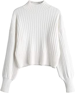cropped white knit sweater