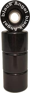 Black Angel 70mm 82A Longboard Wheels (Set of 4), Black