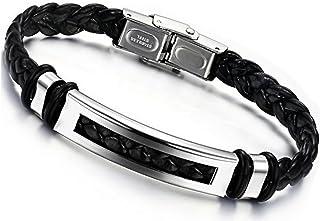 meilleur service 74b5d 1aac3 Amazon.fr : Bijoux homme pas cher Bracelets de force en cuir