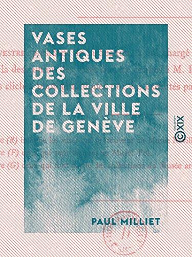 Vases antiques des collections de la ville de Genève (French Edition)