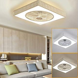 Jasemy - Lámpara de techo LED, 40 W, con mando a distancia, gotas de agua, ventilador de techo con lámpara de techo, mando a distancia, larga vida