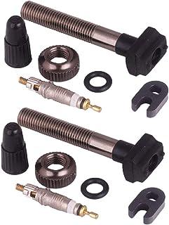BESPORTBLE 2 peças de substituição para válvula Presta Core bicicleta sem câmara de ar adaptador de válvula para bicicleta...