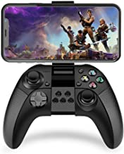 Game Controller Wireless Bluetooth Gamepad with L3 R3 Compatibility Joystick Joypad with Clamp Holder for iOS iPhone/iPad/PS4 Remote Play (Black)