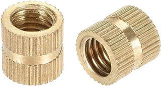 M5 x 10mm L x 7mm OD Female Thread Brass Embedment Assortment Kit uxcell Knurled Insert Nuts 50 Pcs