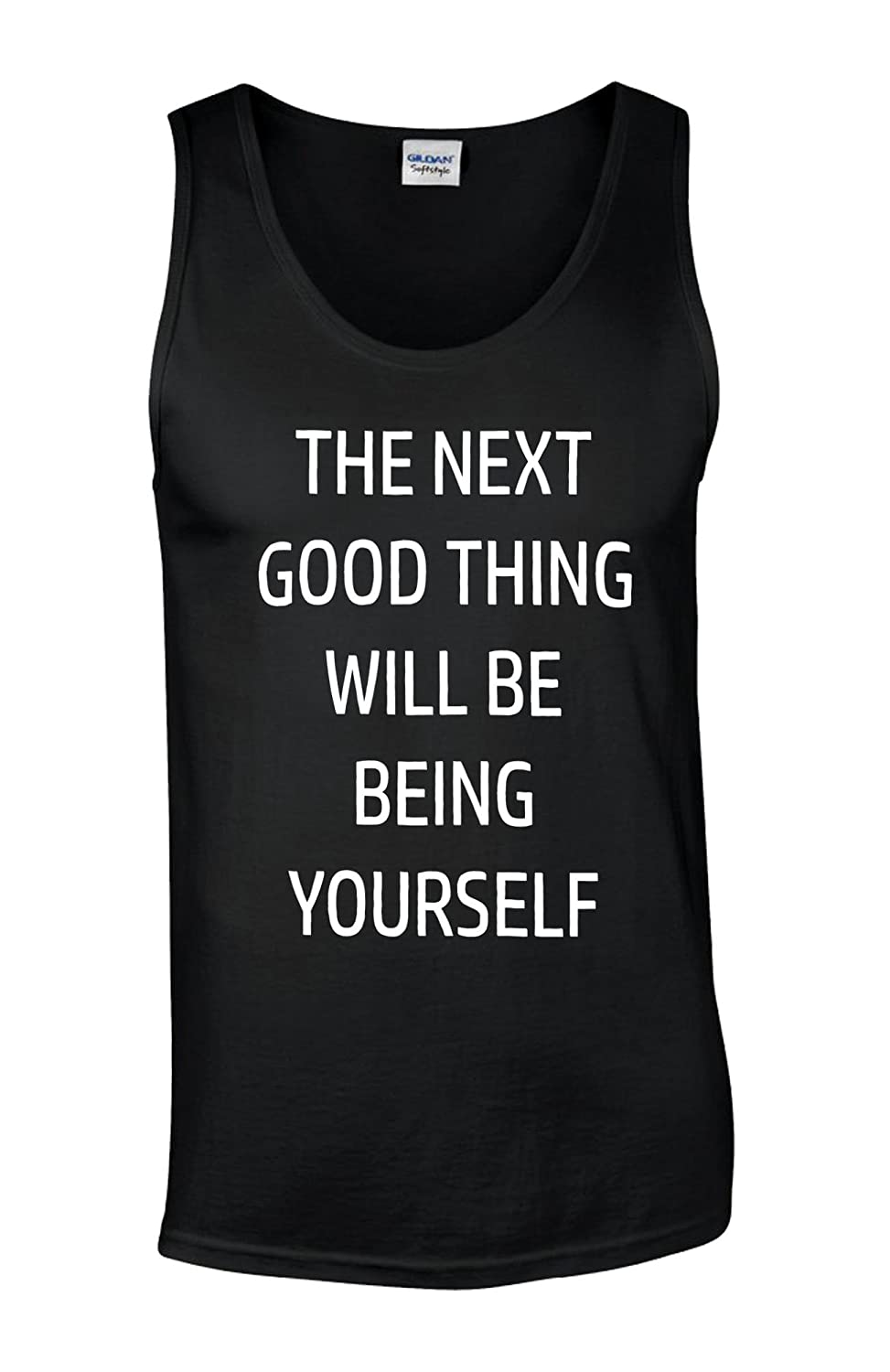 Being Yourself Confidence Funny Novelty White Men Vest Tank Top