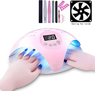 Double-hands UV Nail Lamp,SKYUV LED Nail Dryer Quick-drying LED UV Nail Drying Lamp Suitable for Fingernails and Toenails, Home and Salon Manicure/Pedicure Curing Lamp