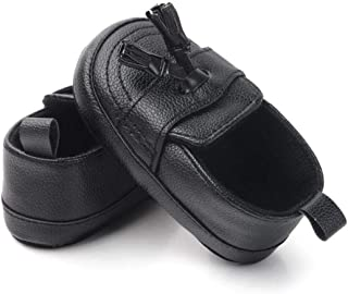 Kitty Baby Boy Leather Loafer Moccasins Kids Casual Shoes 6-12 Months Black