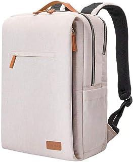 Mochila para hombre, portátil, impermeable, mochila escolar, mochila para hombre, mochila para el colegio de 15,6 pulgadas, USB, beige (Beige) - F003