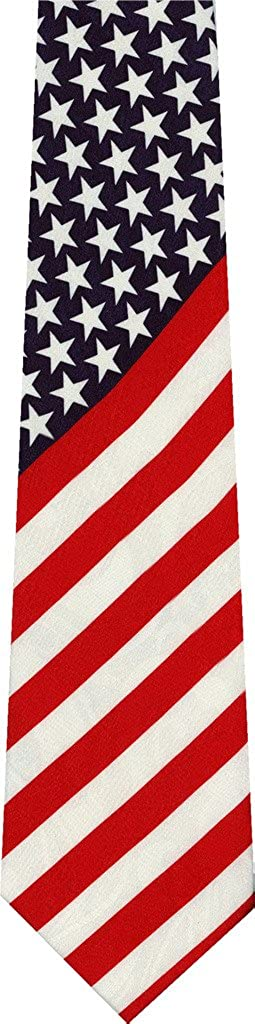 New products world's highest Max 78% OFF quality popular American Flag Necktie Novelty