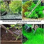 GENOVATION Aquatic Plant Tweezers Scissor Spatula Tool - 4 in 1 Stainless Steel Aquarium Tank Aquascaping Tools Set Fish Starter Kits & Aquariums Tank Plants Kit 13