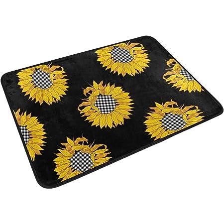 Details about  /Sunflower flower and proverbs Bath Mat Flannel Rugs Anti-slip Floor Mat Door Mat
