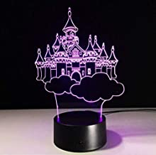 3D Illusion Night Light bluetooth smart Control 7&16M Color Mobile App Led Vision Moving Castle Acrylic Magic Palace Ideal Country colorful Creative gift